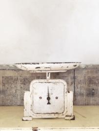 Old original white kitchen scale