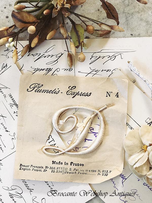 Franse oude monogram letter