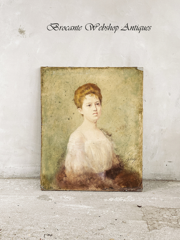 Uniek frans pastel portret