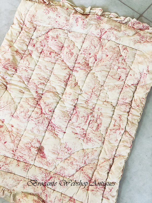 French old toile de jouy plaid