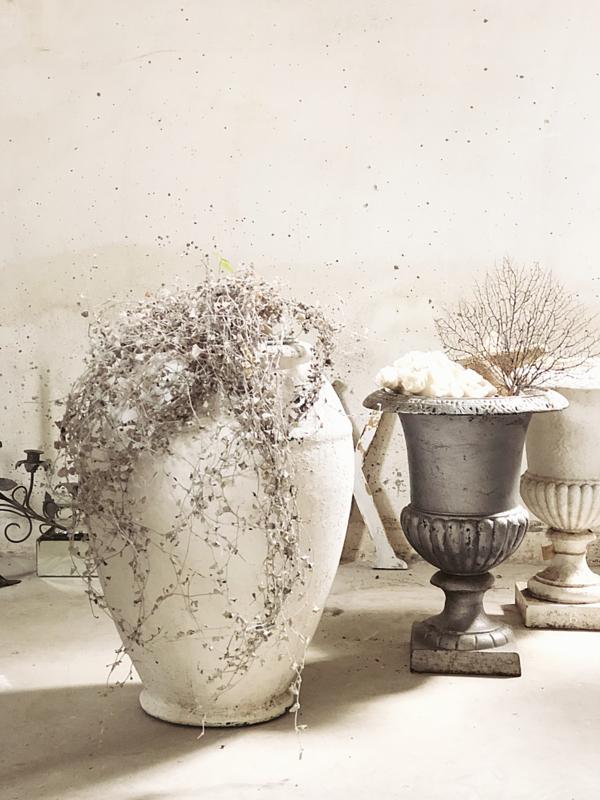 Stijlvolle grootse oud witte pot/ vaas
