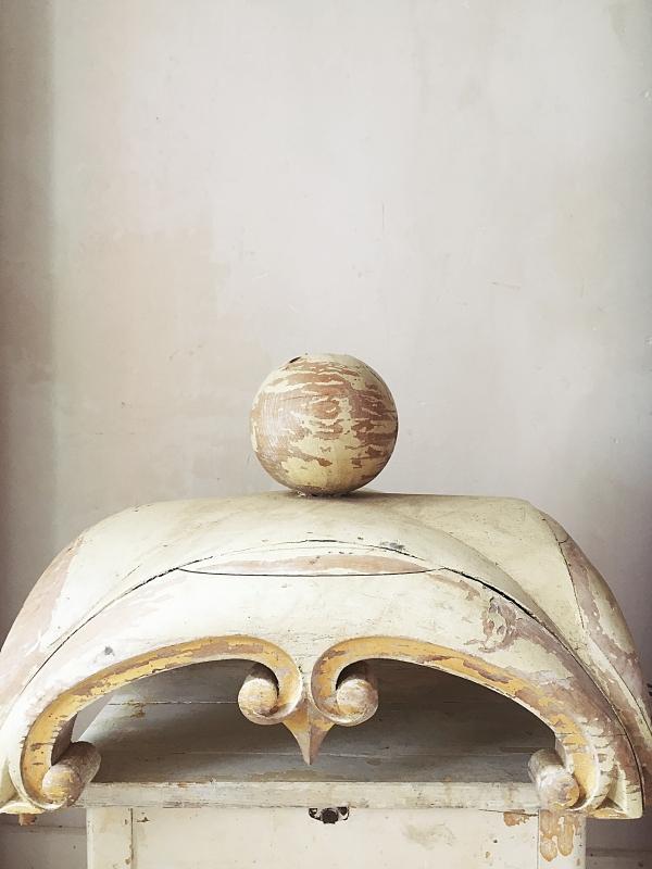 Antiek Groots Houten Ornament Antique Huge Wooden Ornament
