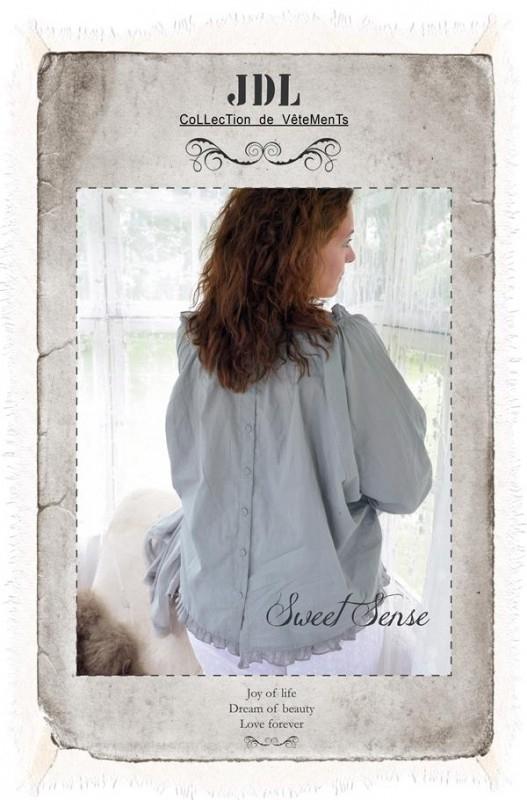 Blouse -Sweet Sense- Jeanne d`Arc Living olijfgroen