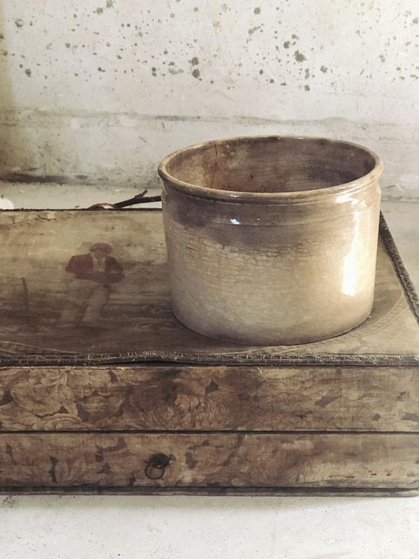 Beboterde antieke pot