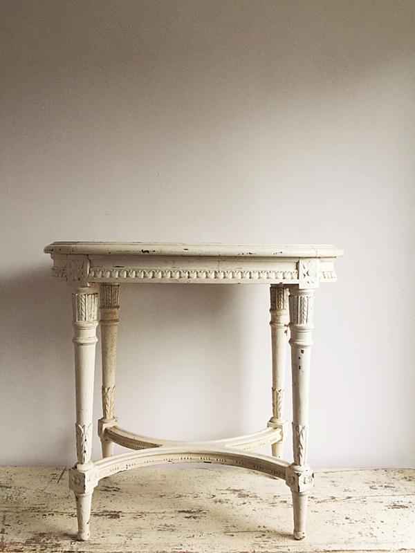 Hedendaags Frans tafeltje Louis XVI | - Verkocht....... | Brocante Webshop XY-05