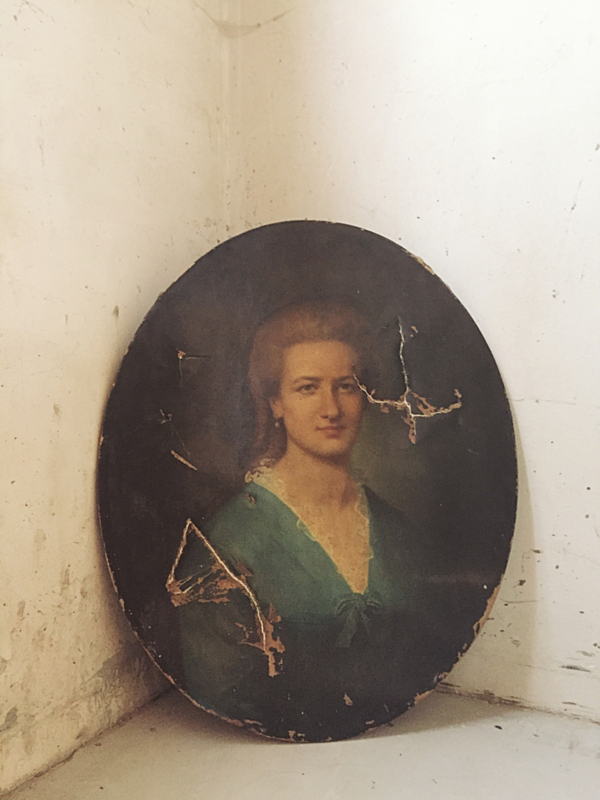 Antiek ovaal portret