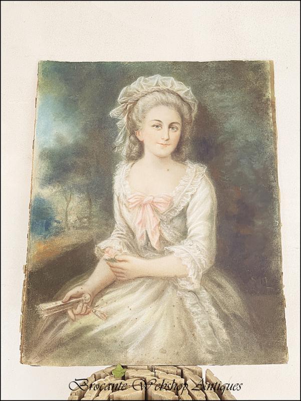 18e eeuws pastel portret