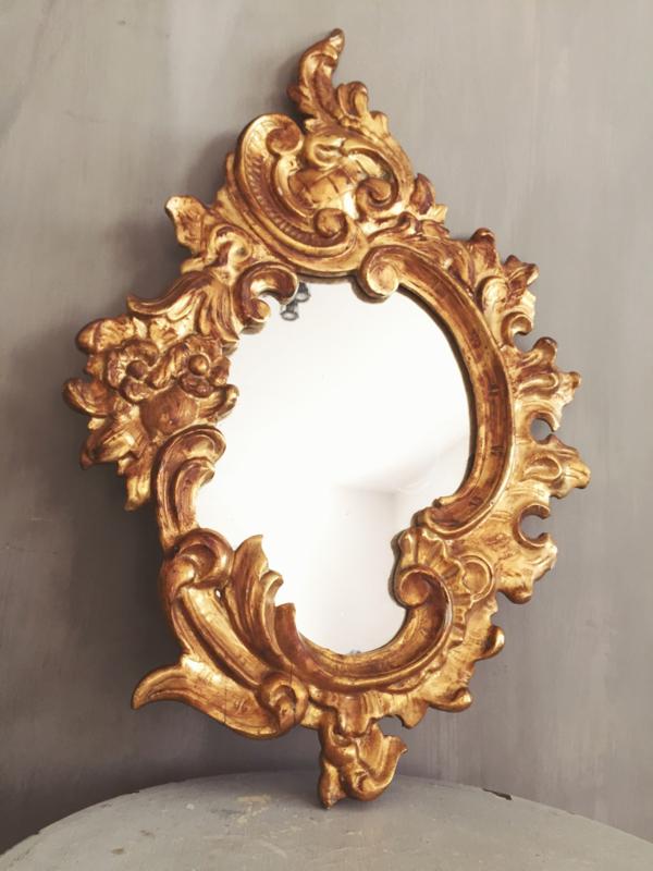 Franse bois doré spiegel