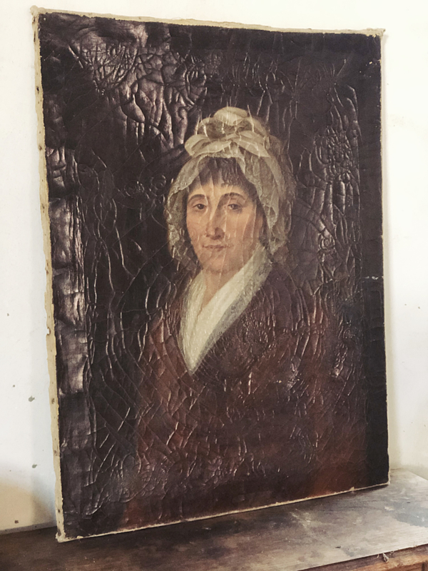 Antiek dames portret