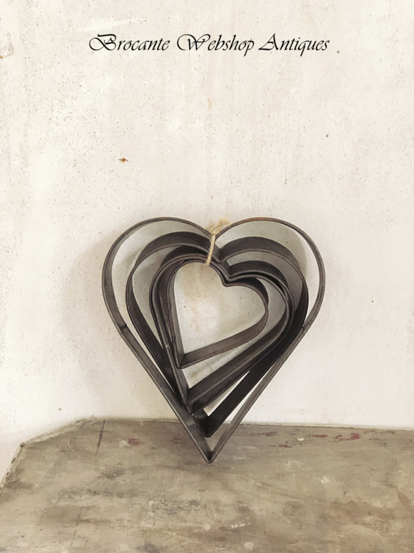 Set van harten bakvormen