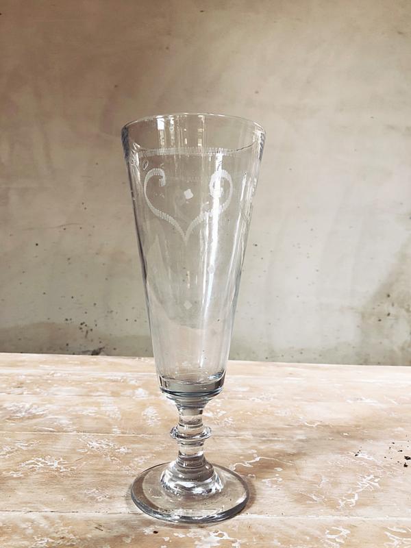 Frans hoog GROOTS souvenir glas/vaas/bowl