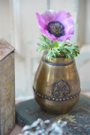 Vase, small, dark antique gold