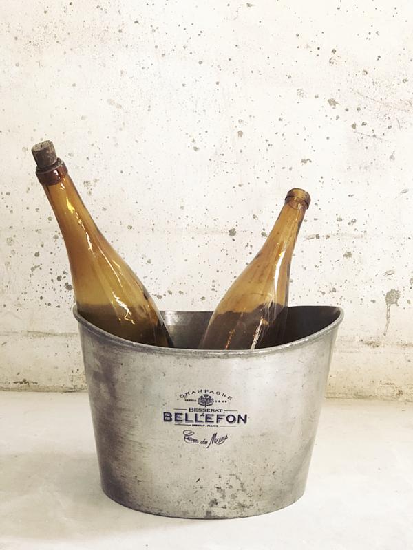 Franse verzilverde champagne cooler