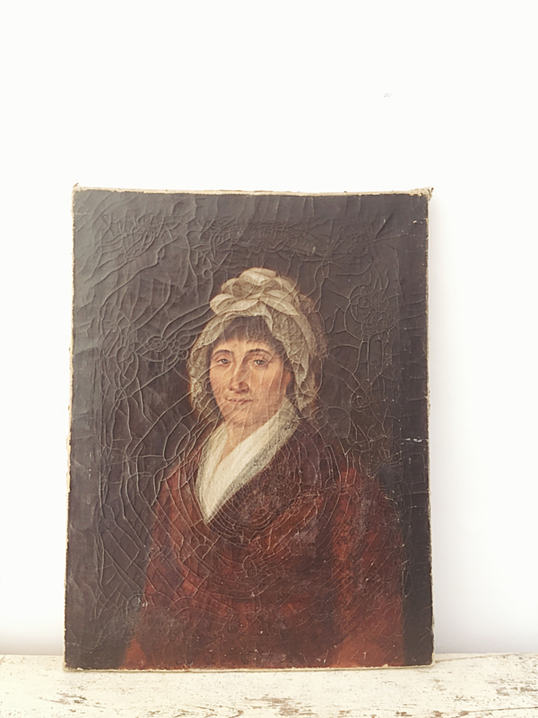 Antique french ladies portrait