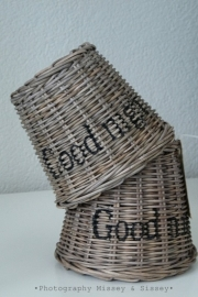 "Lampenkapje rustic rattan ""Goodnight"""