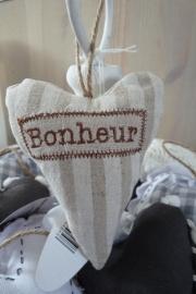 Hartje met de tekst Bonheur Clayre & Eef