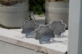 Plantenstekers aluminium met bloemmotief