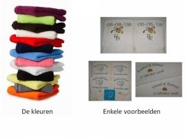 Set van 2 luxe trouwhanddoeken (50x100 cm)