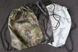 Gymtasje camo (100% polyester)