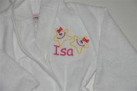 babybadjas met naam en/of afbeelding