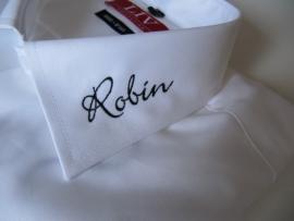 borduren kraag overhemd