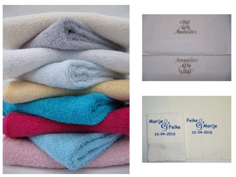 Set van 2 standaard trouw handdoeken (50x100 cm)