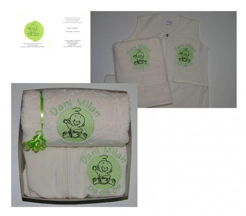 geboortekaartje omgezet in borduursteken