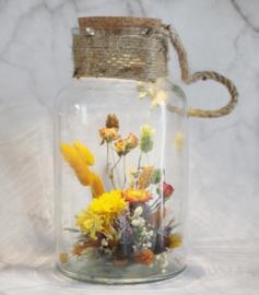 droogbloemen pot met verlichting