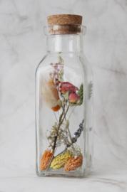 droogbloemen in fles 18 cm