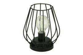 zwart metalen lamp met ledverlichting