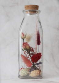 droogbloemen in fles 15 cm