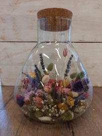 Kurkvaas konisch met droogbloemen