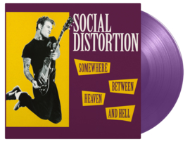 Social Distortion Somewhere Between Heaven And Hell LP - Purple Vinyl-