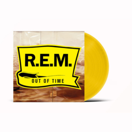 R.E.M. Out of Time LP - Yellow Vinyl-
