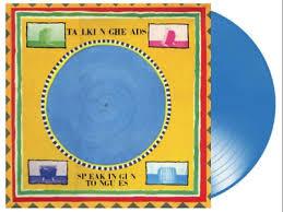 Talking Heads Speaking Of Tongues LP - Blue Vinyl-
