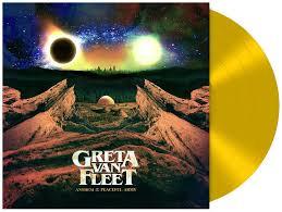 Greta Van Fleet Anthem Of The Peaceful Army LP - Yellow Vinyl