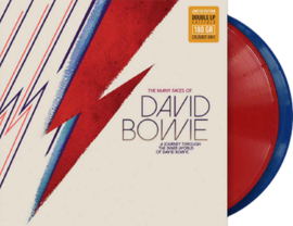 The Many Faces Of David Bowie: A Journey Through The Inner World Of David Bowie 180g 2LP (Red & Blue Vinyl)