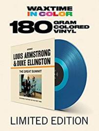 Louis Armstrong & Duke E Great Summit  LP -Blue Vinyl-