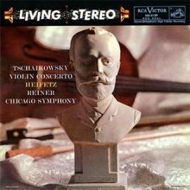 Jascha Heifetz & Fritz Reiner Tschaikowsky Violin Concerto 200g LP