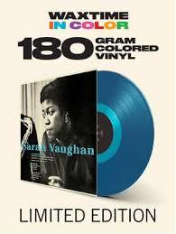 Sarah Vaughan With Clofford Brown LP - Blue Vinyl-