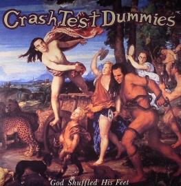 Crash Test Dummies God Shuffled Hit Feet LP - Orange Vinyl-