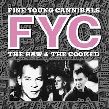 Fine Young Cannibals The Raw And The Cooked LP -Red & White Vinyl-