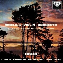 SIBELIUS & TCHAIKOVSKY/VIOLIN CONCERTO & SERENADE 180g LP