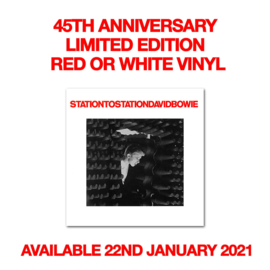 David Bowie Station to Station LP - Red or White Vinyl-