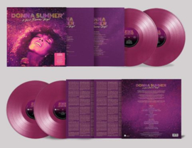 Donna Summer A Hot Summer Night 2LP - Purple Vinyl-