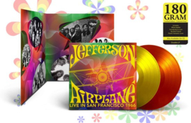Jefferson Airplane Live In San Francisco 1966 2LP - Yellow/Orange Vinyl-
