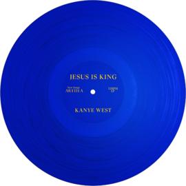 Kanye West Jesus Is King LP - Blue Vinyl-