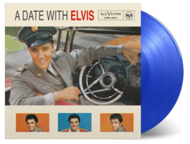 Elvis Presley A Date With Elvis LP - Blue Vinyl-