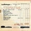 Stephen Stills - Just Roll Tape LP