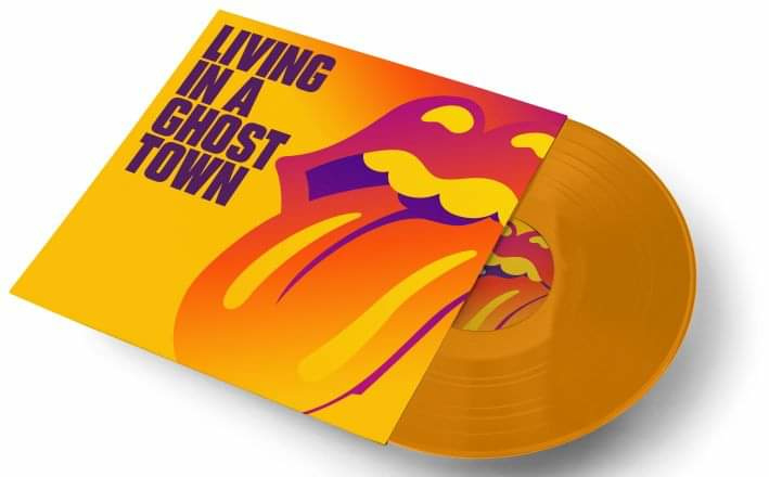 """Rolling Stones Living in a Ghost Town 10"""" -Yellow Vinyl -"""